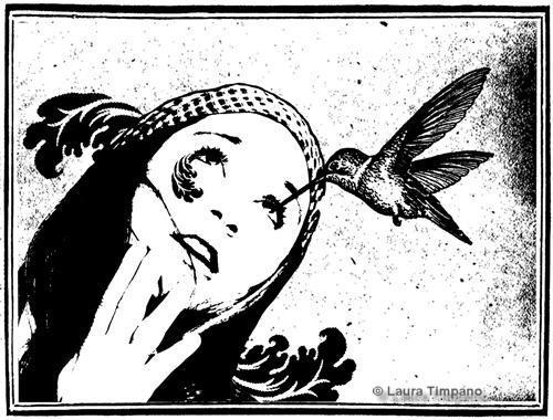 Selfportrait with Hummingbird