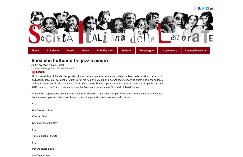 """Recensione di Anna Maria Robustelli a """"Da da da"""" di Laura Fusco"""