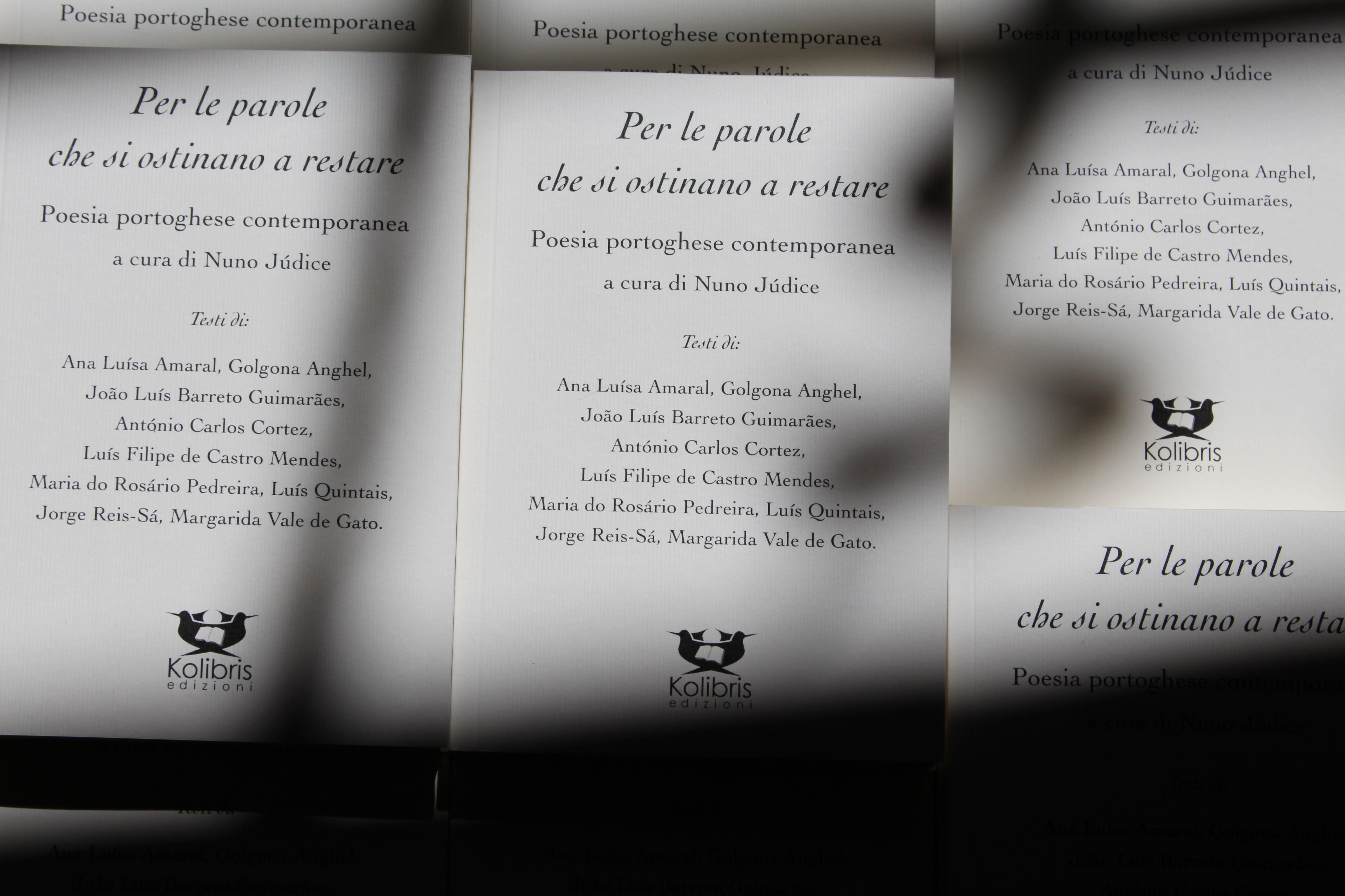 Per le parole che si ostinano a restare. Poesia portoghese contemporanea