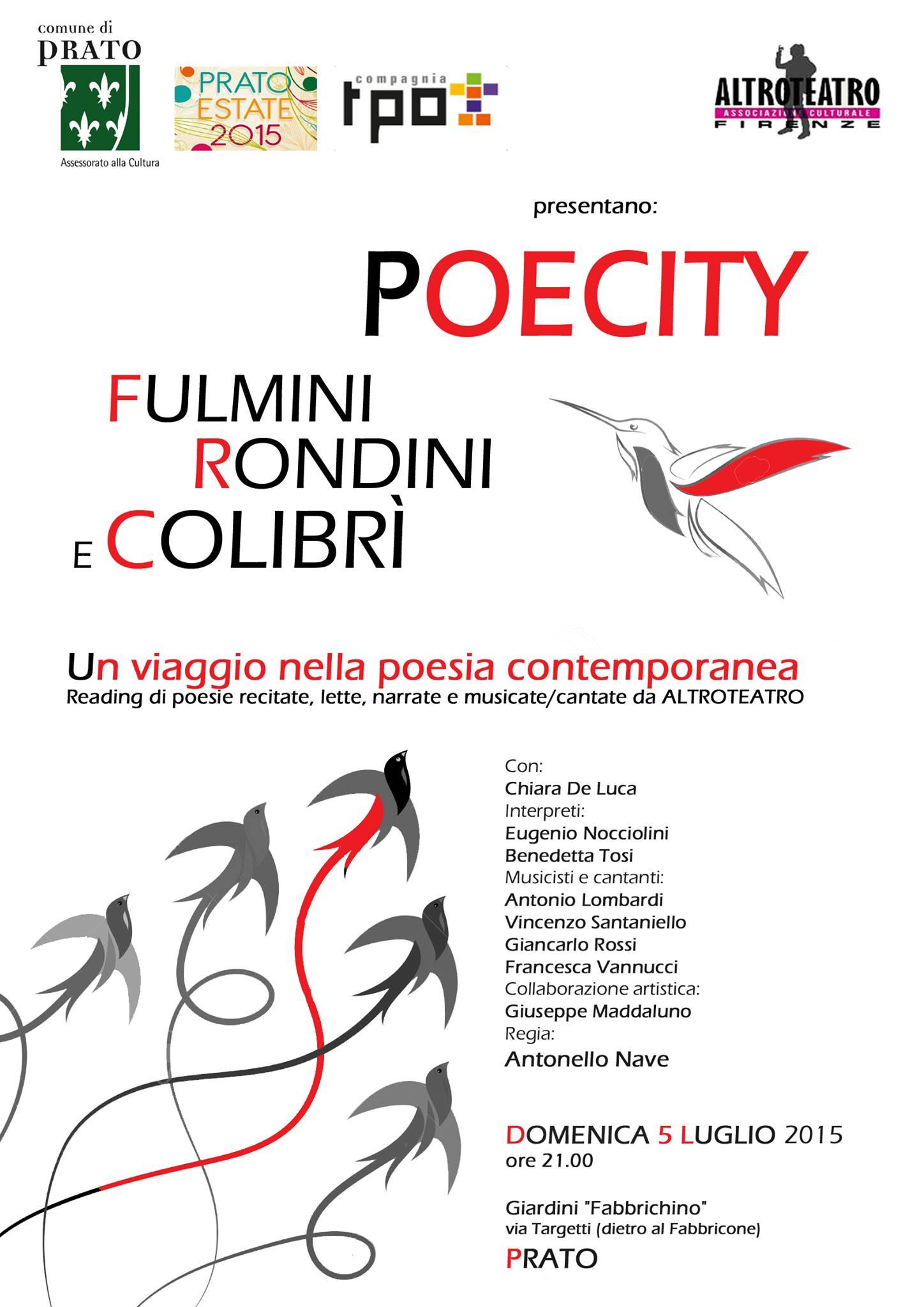 Fulmini, rondini e colibrì a Prato