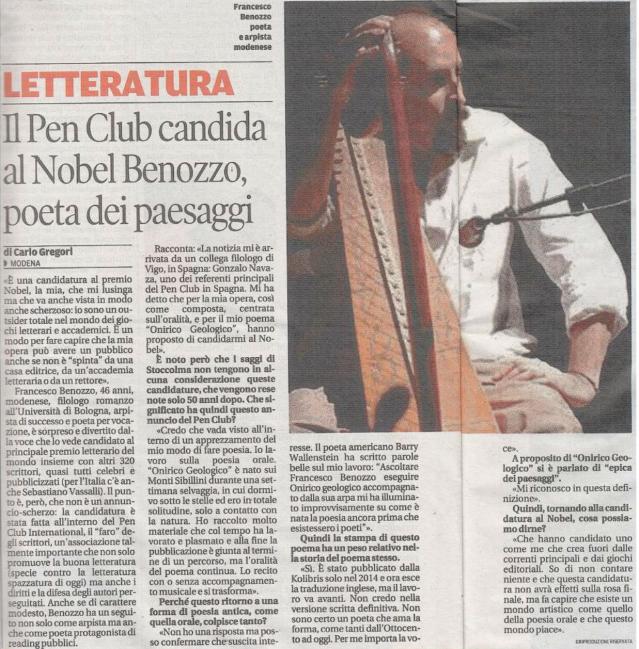 """Su """"La Gazzetta di Modena 26/07/2015"""